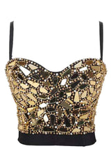 Sequins and Beds Clubwear Crop Top