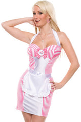 Pink Diner Dasher Waitress Costume