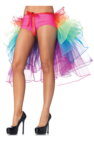 Rainbow Bustle Layered Tail Skirt