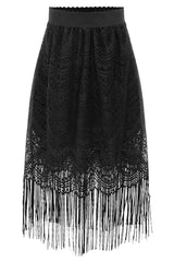 Gothic Tasseled Patch Skirt