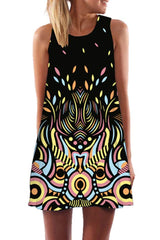 Atomic Psychedelic Pastel  Mini Summer Dress