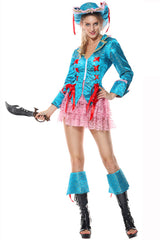 Blue and Pink Pirate Costume