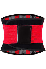 Red Neoprene Body Shaper Belt