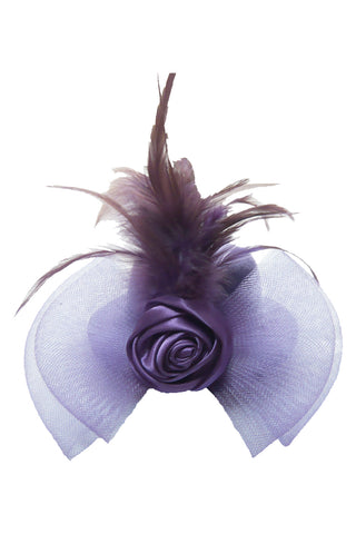 Atomic Purple Hen Rose Mini Top Hat