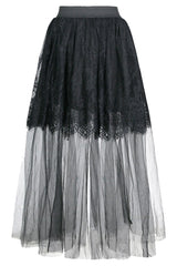 Black Victorian Multi Layered Skirt