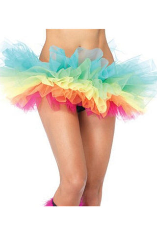 Rainbow Organza Tiered Tutu Skirt