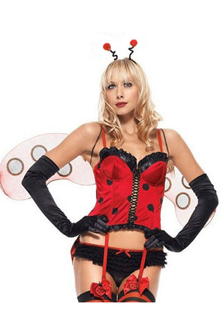 Red and Black Bare Beetle Costume