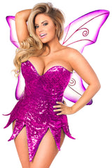 Pink Sequin Fairy Costume
