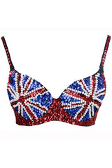 Sequined UK Flag Bra Top