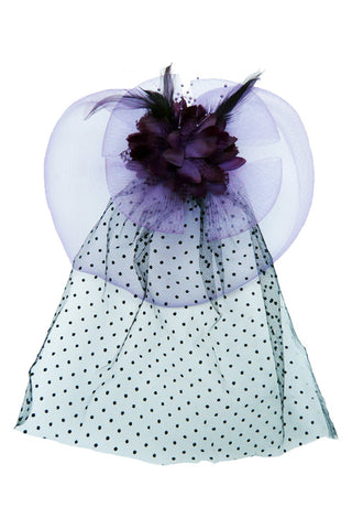 Purple Flower Topper with Veil