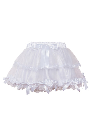 Two Tiered Mesh Bowed Petticoat