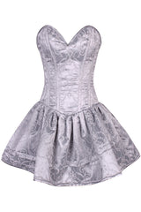 Top Drawer Regal Silver Steel Boned Corset Dress
