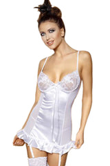 White Embroidered Babydoll