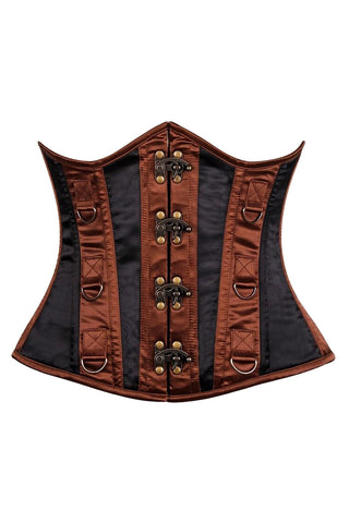 Brown and Black Underbust Corset