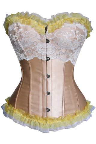 After Five Gold Ruffles and Lace Corset