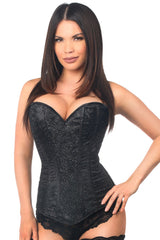Lavish Premium Black Glitter Side Zipper Corset
