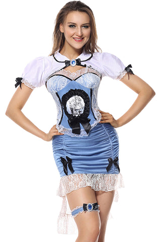 Blue and White Damsel Costume