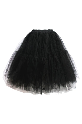 Black Multi-Layer Gauze Skirt