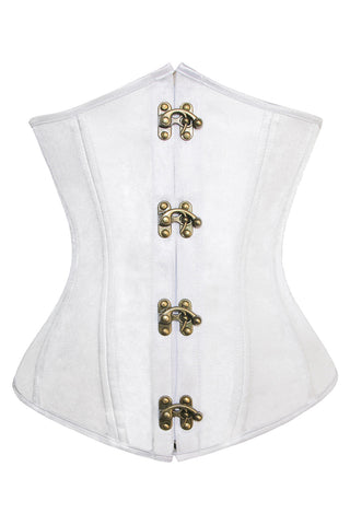 White Light Steel Boned Underbust Corset