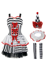 Atomic Black and White Harlequin Costume