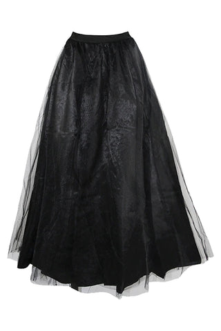 Maxi Long Black Tulle Skirt