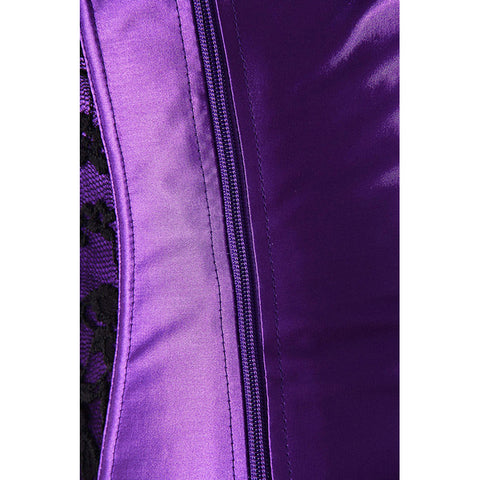 Atomic Purple Haze Over Bust Corset