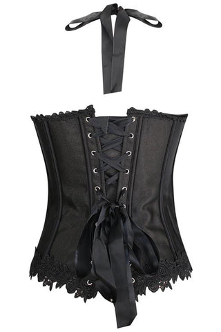Black and Red Jacquard Weave Corset