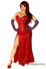 Jessica Rabbit Inspired Corset and Skirt Costume