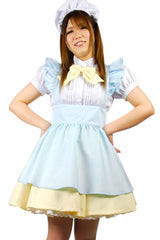 Blue and Yellow Lolita Maid Costume