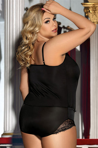 Black Short Romper Teddy Lingerie