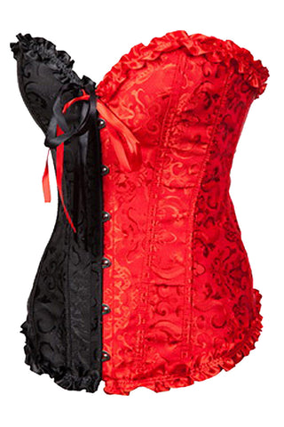 Harley Inspired Jacquard Overbust Corset