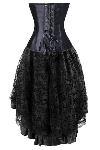 Black Lace Corset And Skirt