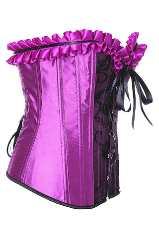Atomic Call Me Queen Purple Pinup Corset