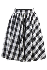 Classic Black Plaid Skater Skirt
