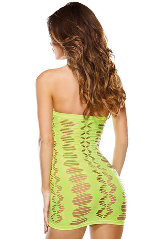 Green Fishnet Tube Chemise