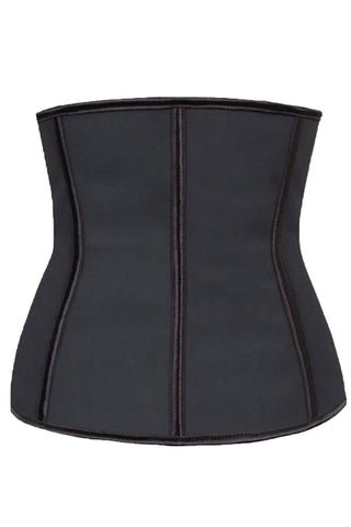 Black Latex Waist Training Underbust Corset