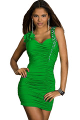 Lime Twist Asymmetric Dress