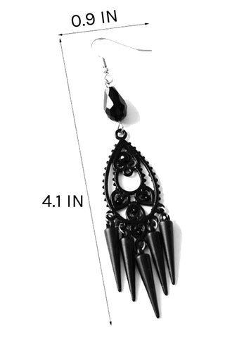 Atomic Gothic Conical Drop Earrings