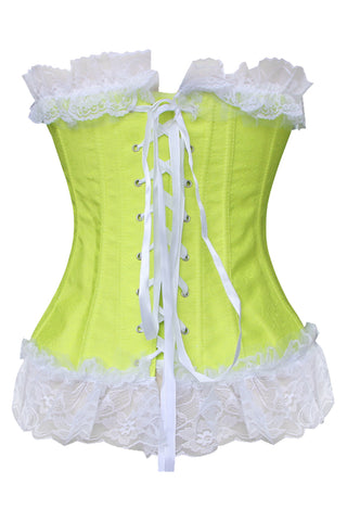 Ruffled Lemony Lime Corset