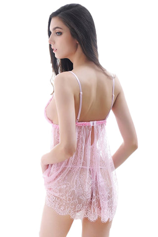 Pink  Ruffled Cups Babydoll
