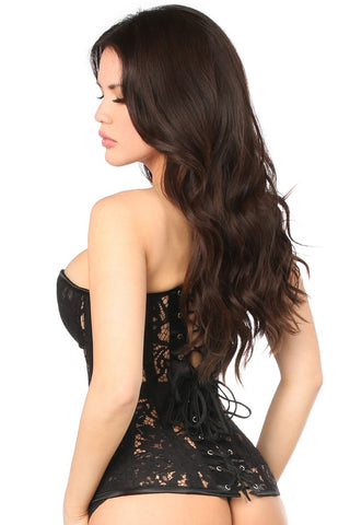 Black Underwire Sheer Lace Corset