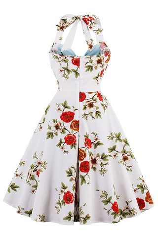 Blue and White Vintage Floral Dress