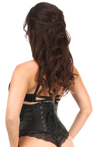 Satin Steel Boned Mini Cincher w/ Clasps