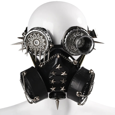 Silver Star Chained Steampunk Mask