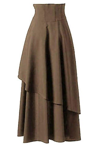 Atomic Long Band Skirt - Wine Red / 2XL