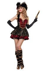 Red and Black Fancy Pirate Costume