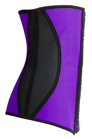 Purple Steel Boned Underbust Corset