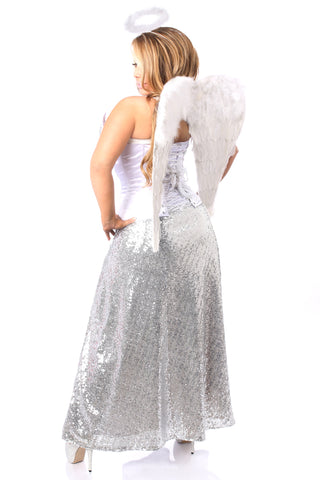 Top Drawer Premium Sequin Angelic Corset Costume
