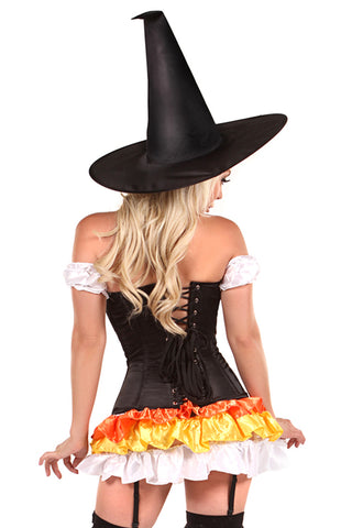 4 PC Witch Corset Costume