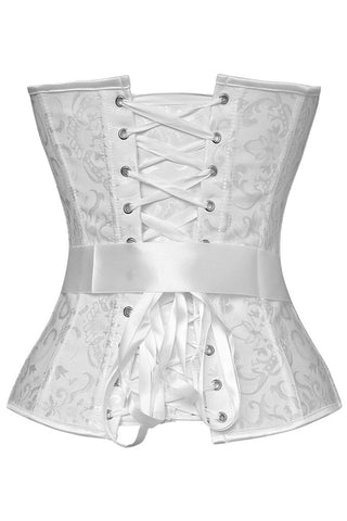 White Bowknot Embroidered Corset